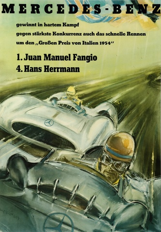 MERCEDES BENZ - FANGIO, the poster